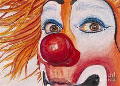 Patty Vicknair - Watercolor Clown #10 Payaso Kiruz Bazo