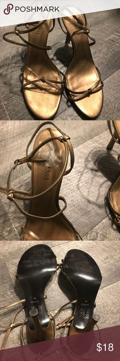 Gorgeous Gold Sandals!!! Gorgeous ankle strap Sandals. With limited wear, sticker on shoe was very difficult to remove. Charles David Shoes Sandals