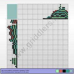 Griddlers Puzzle 175972 Bulba Fett or BobaSaur