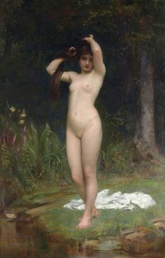 Philip Hermogenes Calderon (British, 1833-1898). A Woodland Nymph, 1883