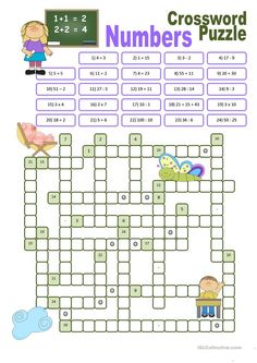 Crossword Puzzle Numbers - English ESL Worksheets for distance learning and physical classrooms 4th Grade Math Worksheets, English Grammar Worksheets, Number Worksheets, Vocabulary Worksheets, Kids English, English Lessons, Learn English, Number Puzzles, Maths Puzzles