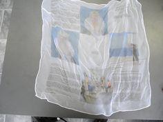Druck auf Chiffon Chiffon, Printing, Silk Fabric, Sheer Chiffon