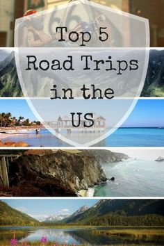 Top 5 Road Trips in the US  US Road Trips are so much fun - from beaches to…