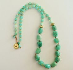 idea for my chrysoprase and/or aquamarine nuggets