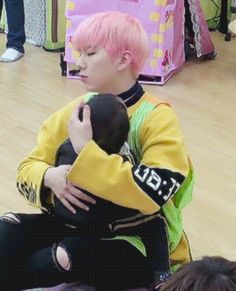 monsta x kihyun with kids gif