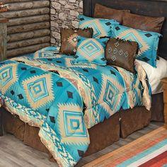 King Size Bedding Sets, Queen Comforter Sets, Western Furniture, Furniture Decor, Southwest Bedroom, Western Bedding Sets, Black Forest Decor, Leather Pillow, Home Decor Online