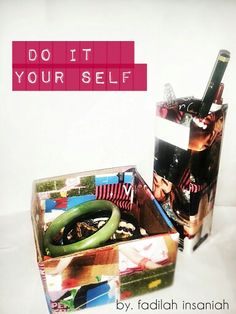 Accessories box and pencil case do it by my self ;) its made by magazine and cardboard
