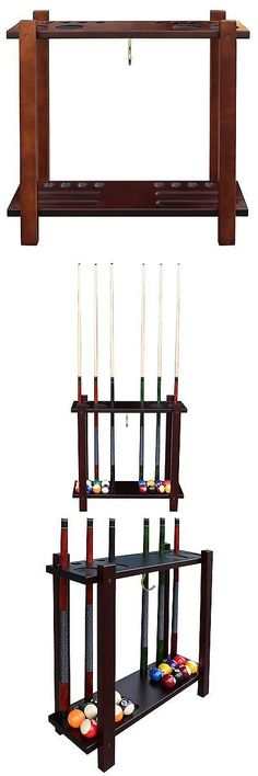Ball and Cue Racks 75185: Hathaway Classic Floor Billiard Pool Cue Rack Antique Walnut New -> BUY IT NOW ONLY: $118.29 on eBay!