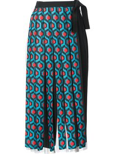 Shop Delpozo fringed wrap maxi skirt.