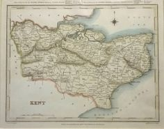 8 Best Antique Maps of Kent images