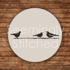 Cross Stitch Pattern Birds on Branch