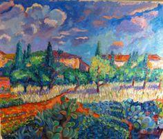 Famous Impressionist Landscape Paintings | ... 'Country houses' painting art sale impressionism landscape paintings