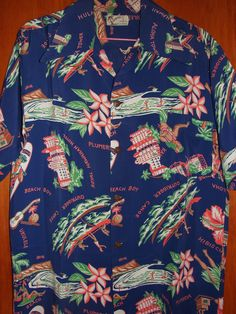 Vintage 1940's Royal Hawaiian Hotel Aloha Shirt by Watamull's
