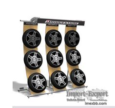 tire retail displays | tyre display rack stand store fixtures shop fittings