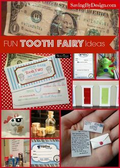 Take a look at many wonderful ways the Tooth Fairy makes her visits so special for your little ones ;) | SavingByDesign.com