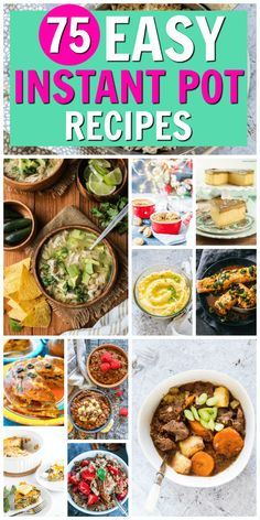 This is the ULTIMATE Easy Instant Pot Recipes roundup. If you love your Instant Pot or you're new to the Instant Pot, you need this post! I've rounded up over 75 of the BEST easy Instant Pot recipes in every category. Breakfasts, soups, stews, main dishes, desserts... it's all here. #instantpot #instantpotrecipes #easyinstantpotrecipes via @recipespantry