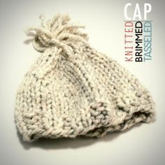Quick Knitted Hat with Brim pattern