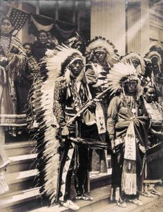 """""""Sioux Indians in Gala."""" Department of Anthropology, 1904 World's Fair."""
