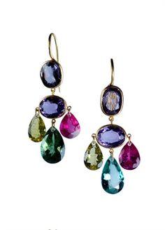 Gemstone Earrings by Marie Helene de Taillac  Source: Vogue Gioiello