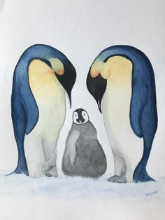 Watercolor paintings/ penguin/ family / print/ decor/ watercolor wall art/ it's a beautiful penguin family watercolor art print available for sale. Perfect for bedroom, kids room, as Christmas gift, baby shower gift Watercolor Paintings For Sale, Watercolor Walls, Family Print, Kids Room, Bedroom Kids, Nursery Art, Penguins, Baby Shower Gifts, Wall Art Prints
