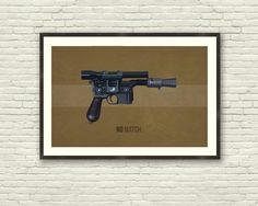 STAR WARS Inspired Han Solo DL-44 Blaster by GreaterGeek on Etsy