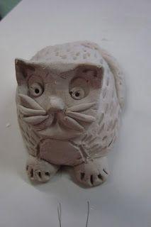 Pinch Pot Cats. www.onceuponanartroom.com