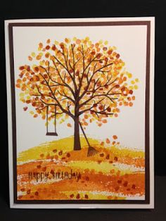 Sheltering Tree, Masculine Birthday Card, Stampin' Up!, Rubber Stamping, Handmade Cards