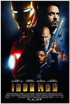 IRON MAN - 2008 - Original 2-Sided Movie Poster - Regular Style - Robert Downey Jr., Gwyneth Paltrow