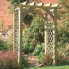 Ultima Pergola Arch with Trellis