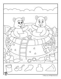 Easy Summer Hidden Pictures Activity Page