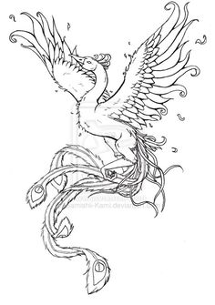 phoenixfishbird Phoenix Tattoo Commission by Samishii-Kami on DeviantArt