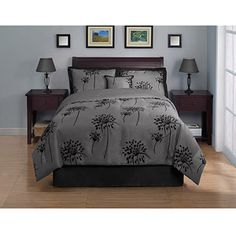 Glimmer 4-Piece Bedding Comforter Set, comes in purple as well...