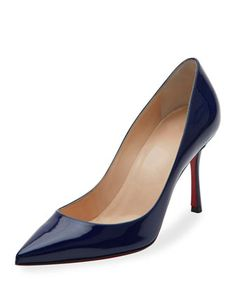 Decoltish+Patent+85mm+Red+Sole+Pump+by+Christian+Louboutin+at+Neiman+Marcus.
