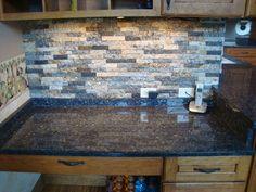 backsplash Kitchen Backsplash, Ideas Para, Granite, Tiles, Kitchens, Recycling, Marble, Scrap, Crafting