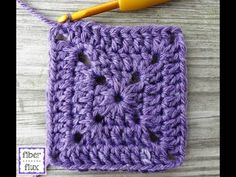 The solid granny square is a pretty version of the traditional granny square. It can be used when you prefer less decorative holes, ...