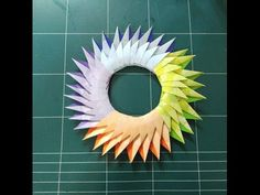Origami Wreath, Origami Paper, Paper Art, Paper Crafts, Origami Design, Kirigami, Wreaths, Hobby, Crafty