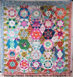 Inklingo Pieced Hexagons by Fern in Singapore