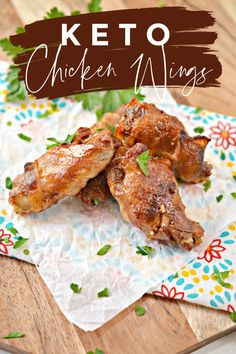 These Keto bacon wrapped chicken wings are easy to make and you can either bake them in the oven or use an air fryer if you have one! Top Recipes, Low Carb Recipes, Great Recipes, Dinner Recipes, Favorite Recipes, Sauce Recipes, Lunch Recipes, Appetizer Recipes, Chicken Wraps