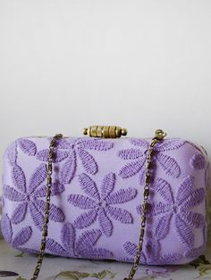 <html><B>LILAC LACE BOX CLUTCH</B></html>:- Clutch when it comes to wedding clutches, in our minds, the sparklier, Shop these clutches and similar styles with @Clutch Me Honey. www.goo.gl/4xB8rR #clutchmehoney #clutch #weddingaccessories #weddingpurse #clutchpurse #bridalfashion #bridalstyle #bride #wedding #bridalfashion #engaged #fiance #bridetobe #style #weddingplanning #weddingclutchbag #bridesmaidsclutch #bridalclutch #lilacboxclutch