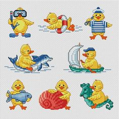 I'd like to use these charts on a blanket Cross Stitch For Kids, Cross Stitch Bird, Cross Stitch Animals, Cross Stitch Designs, Cross Stitching, Cross Stitch Embroidery, Cross Stitch Patterns, Cross Stitch Numbers, Kids Patterns