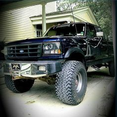 """1986 Ford F150 Lifted. Mine was a 85 with 37"""" MTRs on it ..."""