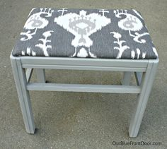 Stool makeover with Annie Sloan Chalk Paint, Paris Grey