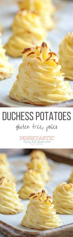 Absolutely gorgeous Duchess Potatoes and they are so unbelievably easy to make! | Gluten Free | Dairy Free | Paleo |
