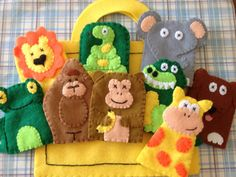 Dear+zoo+inspired+puppet+set+by+Sistersnstitchers+on+Etsy