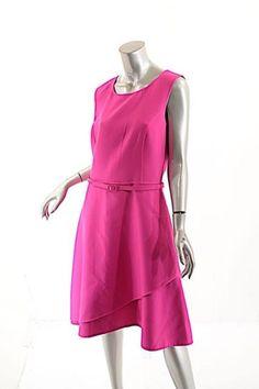 Oscar de la Renta Fuchsia Dress