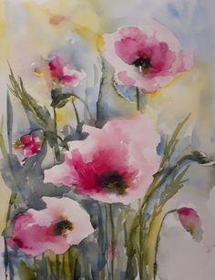 "Saatchi Art Artist Karin Johannesson; Painting, ""Pink poppies VIII"" #art"