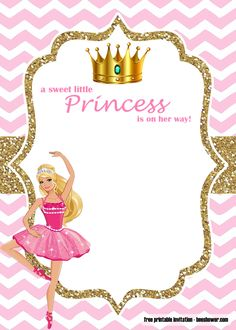 9 Mejores Imágenes De Invitaciones Barbie Invitaciones De