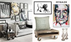 Scandinavian interior with Tommy Lee Jones poster ;)