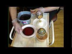 Lorrie PoPow demonstrates how to varnish a Pysanka, Pysanky egg.