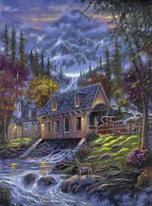 Acrylic Paint By Numbers Kit Canvas 50 40cm 8192 Deer Creek Villa More